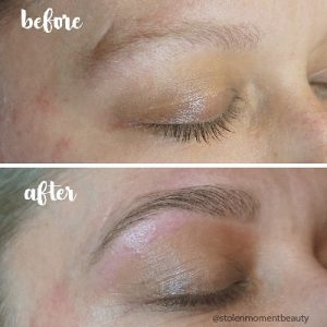 Eyebrow wax restyle is a beauty treatment and eye treatment at Stolen Moment Beauty